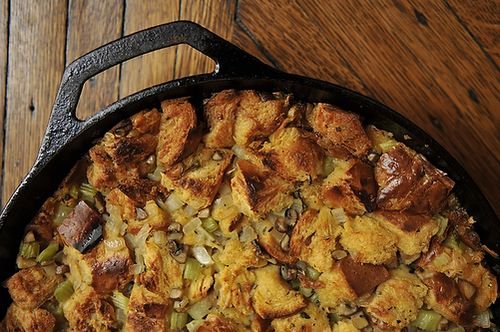 What We Call Stuffing: Challah, Mushroom, andCelery