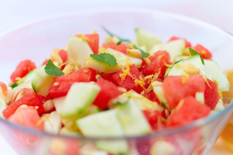 Summery Watermelon and CucumberSalad 1