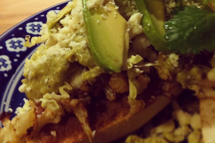 Roasted Cauliflower Torta with Creamy Tomatillo Salsa 1