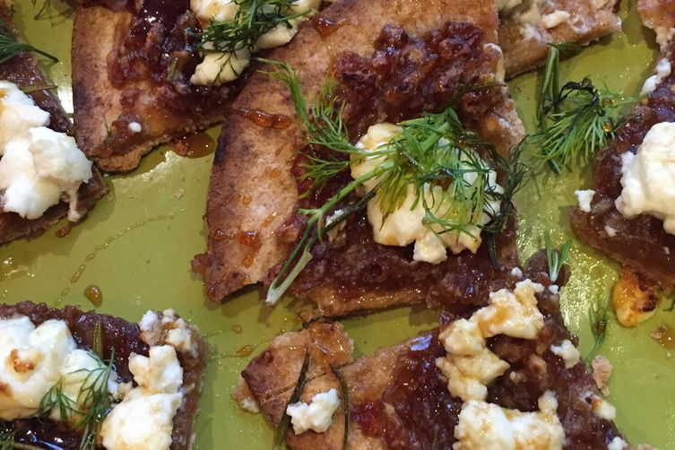 Goat Cheese and DateFlatbreads 1
