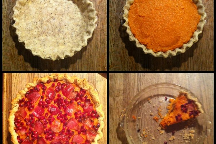 Savory Sweet Potato Pie with Bacon and Pomegranate 1
