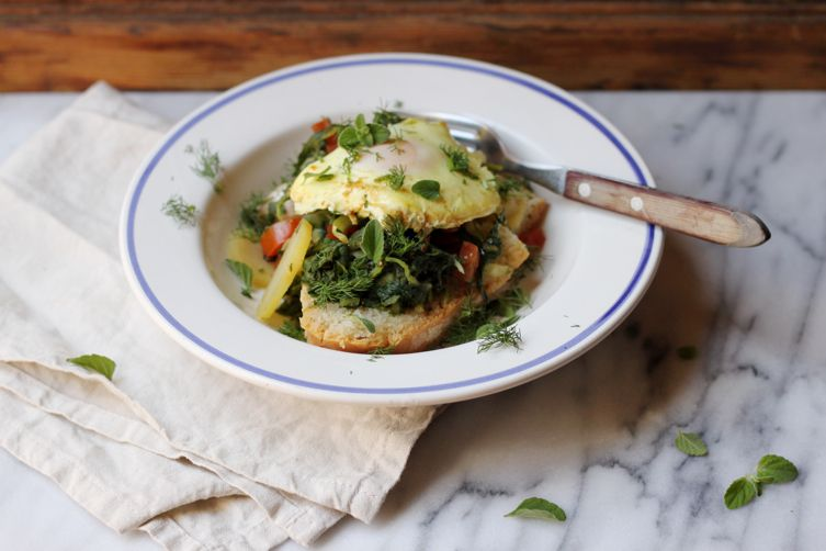 Acquacotta (Wild Greens and BreadSoup) 1