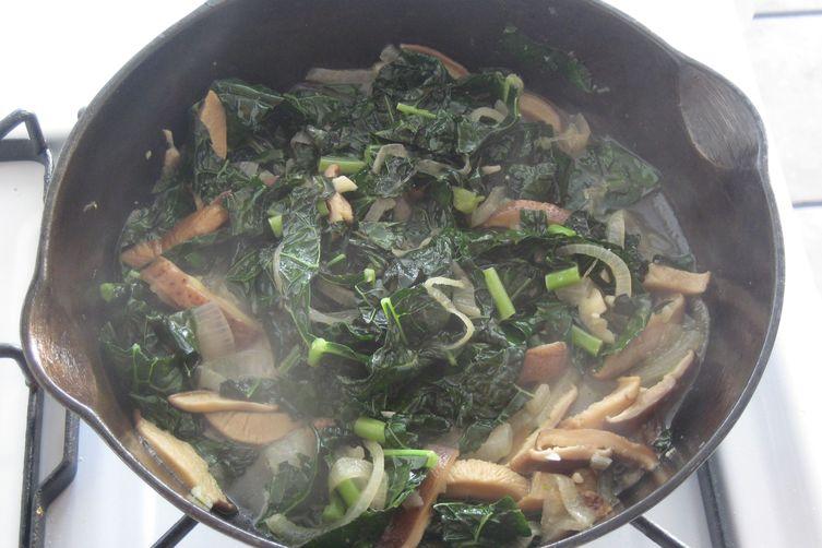 Miso Braised Kale andMushrooms 1