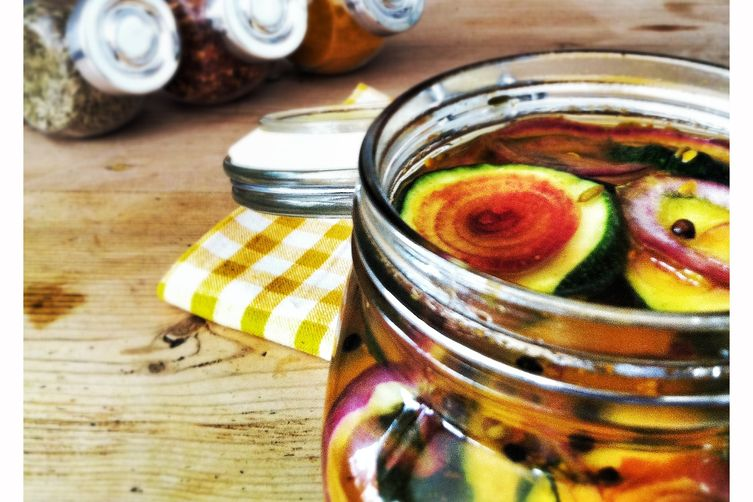 Sweet and Sour Zucchini -  a quick summerpickle 1