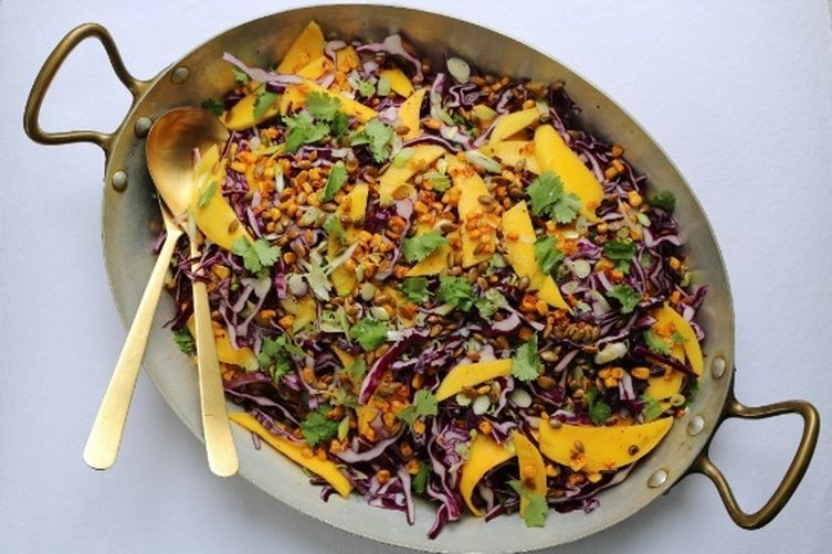Mango and Cabbage Slaw with Toasted Pepitas and Agave-Lime Vinaigrette 1