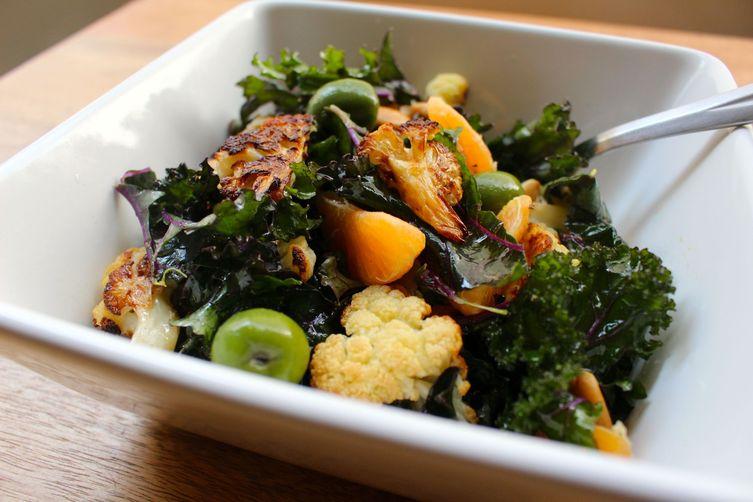 Roasted Cauliflower and KaleSalad