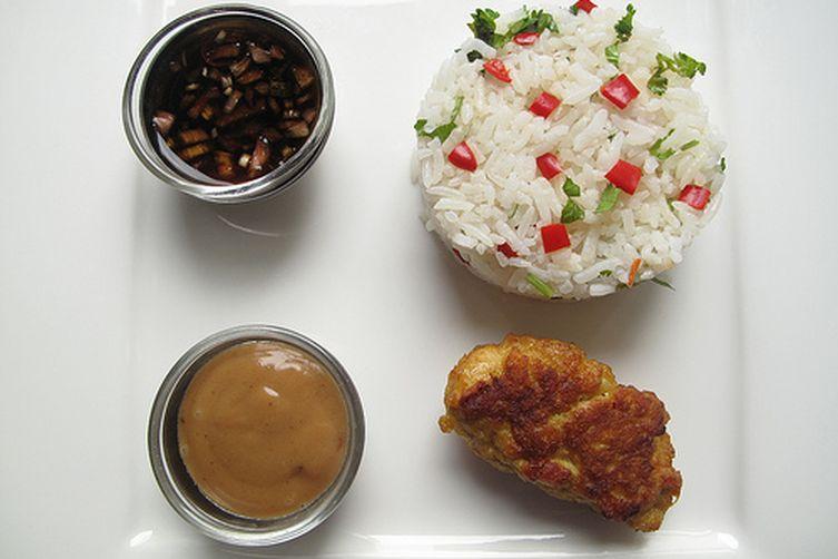 Peanut Butter Aioli with 'Thai' ChickenSatays