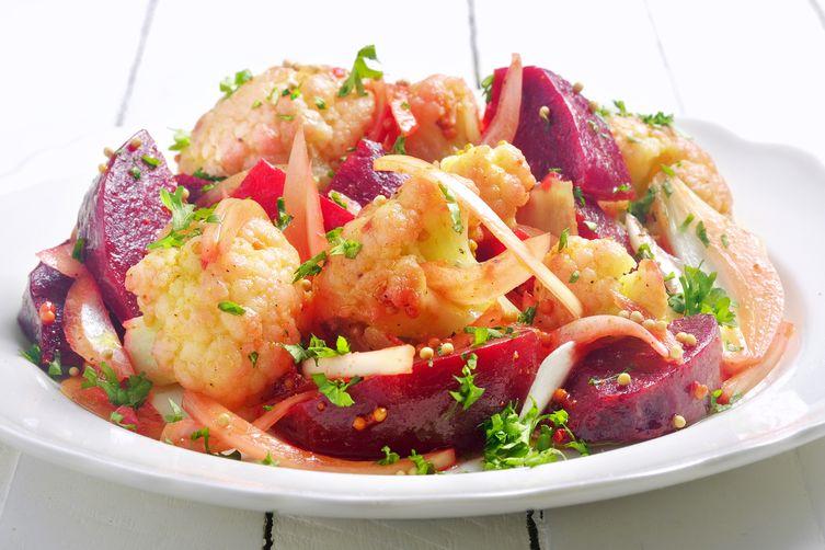 Cauliflower & Beet Salad in Curry-MustardVinaigrette 1
