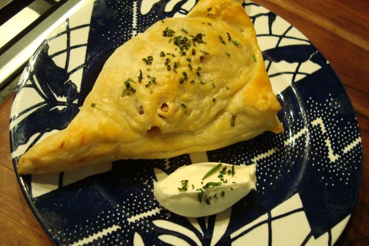 Everything (Plus Chives) Baked Potato Puff Pastries