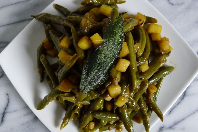 Apple-icious Green Beans with Sage Brown Butter 1