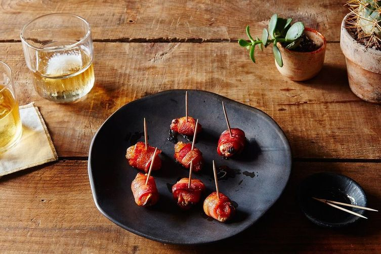 Bacon-Wrapped Apricots Stuffed with Pistachios and Mozzarella 1