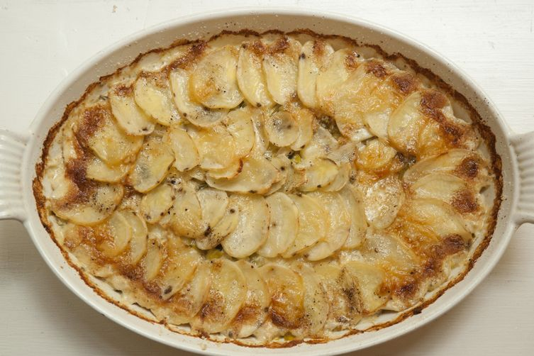 Potato Leek AuGratin