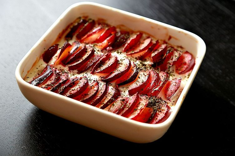 Baked Pluot oatmeal bars (Refined-Sugarfree)