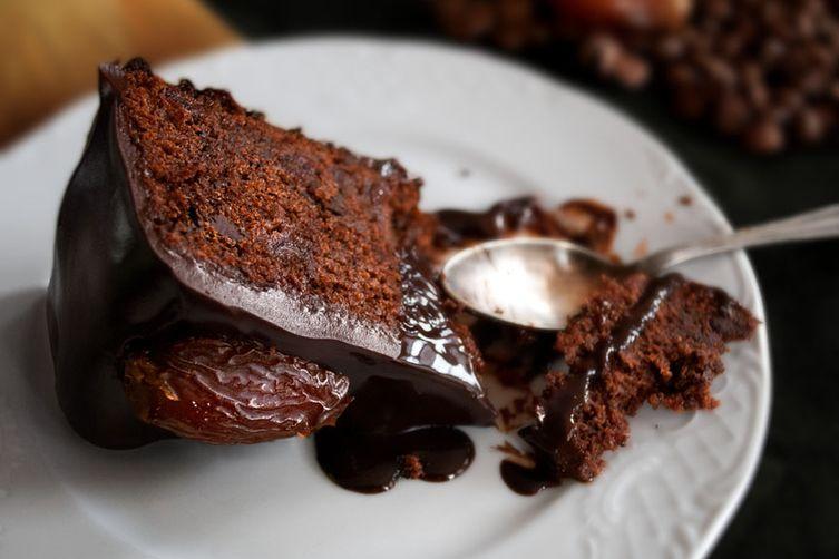 Chocolate-Date Cake with Chocolate Sticky ToffeeGlaze