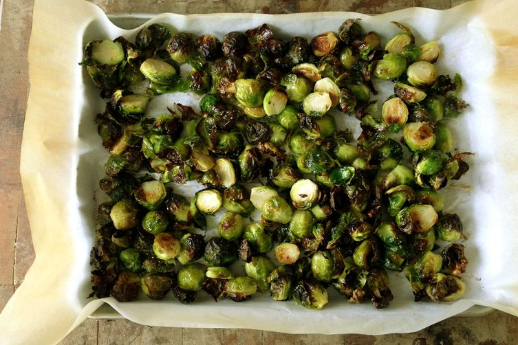 Roasted Brussel Sprouts with Mustard SoyVinaigrette 1