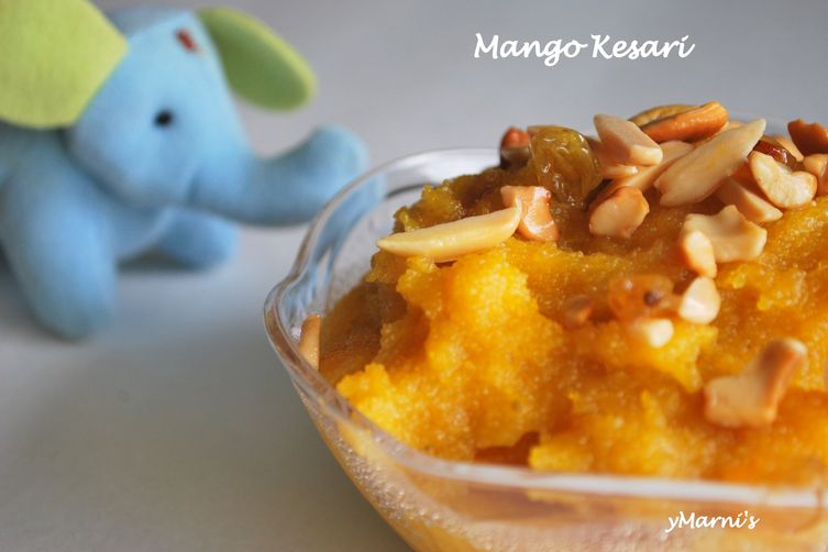 Mango Semolina Pudding/ MangoHalwa 1