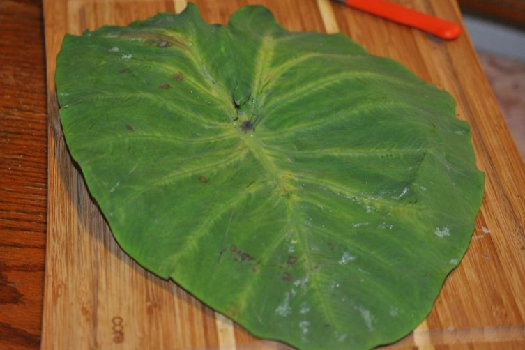 Patra - Made from Colocasia leaves or Elephant ears...