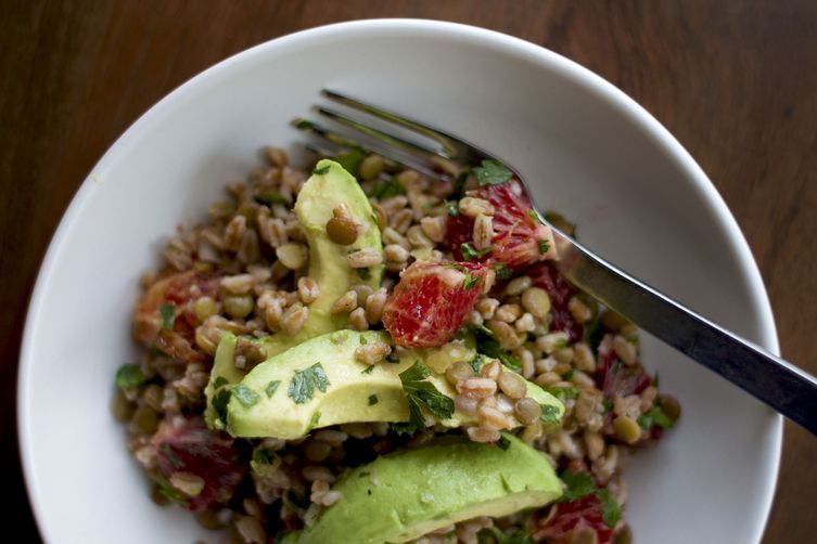 Lentil, Avocado, and Farro Salad 1