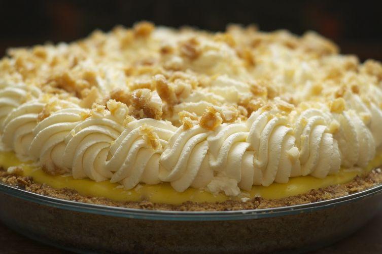 Banana Cream Pie with Macadamia Nut, Honey & CardamomBrittle 1