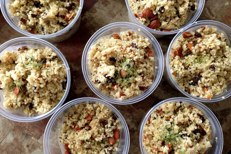 Quinoa Salad with Roasted Fennel and CarawaySeeds