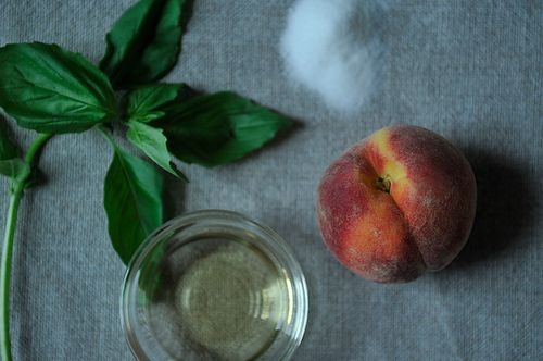 Peaches Poached withBasil