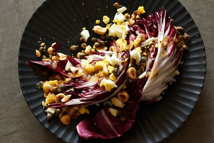 Radicchio Salad with Toasted Hazelnuts andCapers 1