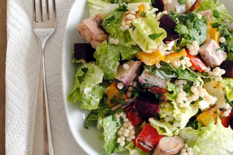 Mediterranean Chopped Salad with IsraeliCouscous