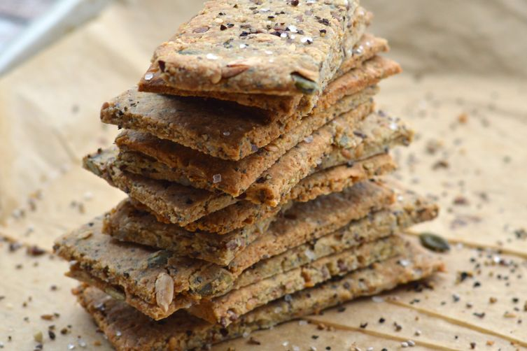 Cracked Pepper and Sea Salt Multi-Seed Crackers 1