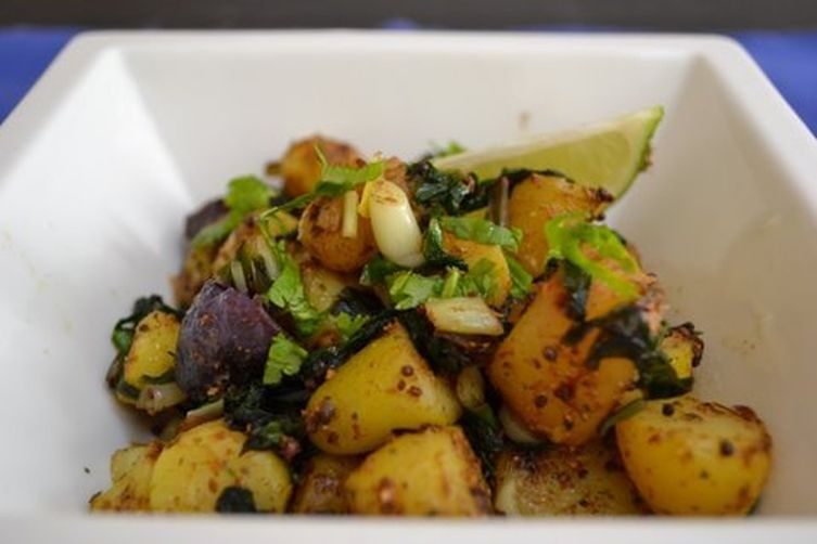 Ramps & fingerling potatoes curry.- an Indian Ramp Trampcontagion