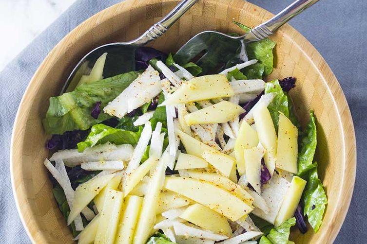 Mango Jicama Salad with Ginger LimeDressing 1