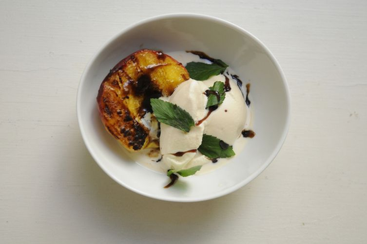 Grilled Mint Julep Peaches 1
