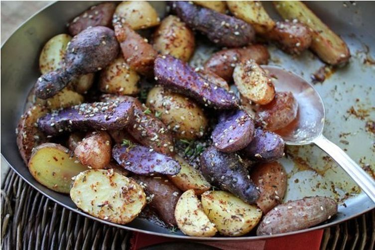 A Medley of Roasted Potatoes with Homemade Za'atar & AleppoPepper