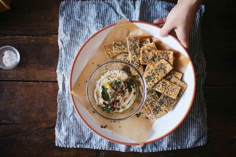 Za'atar-Spiced Chickpea Crackers with Maldon SeaSalt 1