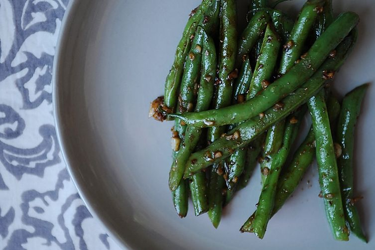 Garlic Green Beans with Soy Sauce 1