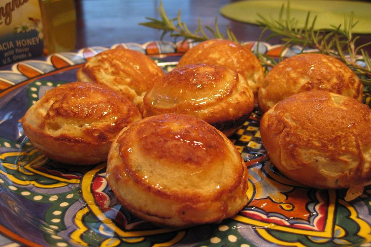 Ebelskivers with pecorino and honey 1