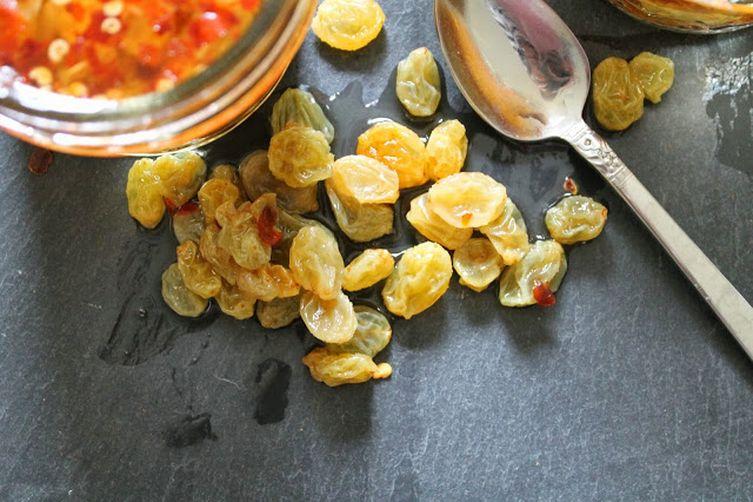 Quick Pickled GoldenRaisins