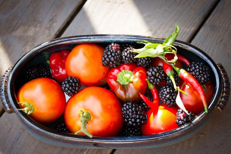 Summer's End Tomato BlackberrySalsa 1
