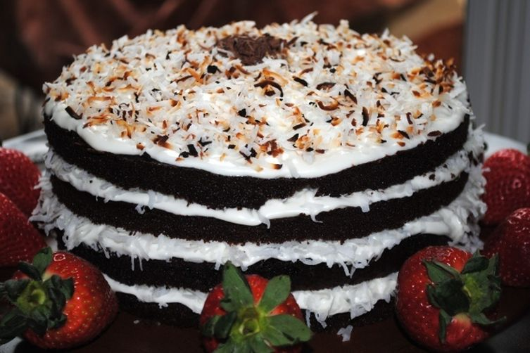 Chocolate Cake with Vanilla Coconut Frosting 1