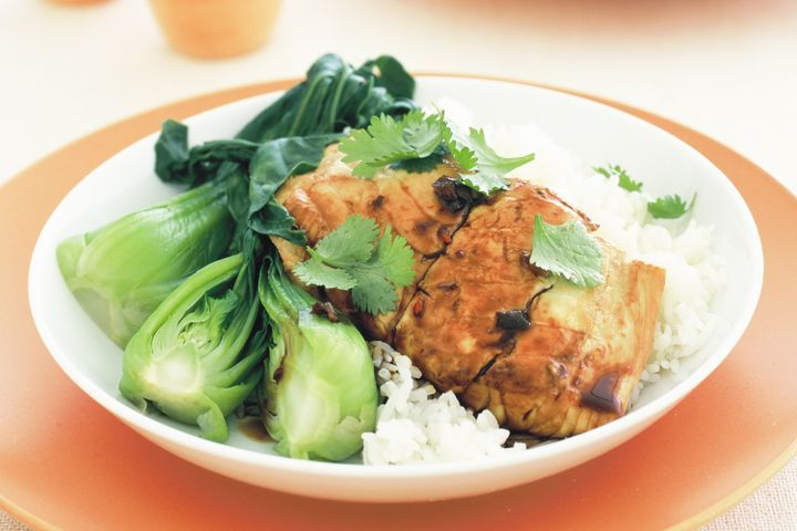 Asian braised fish with bok choy 1
