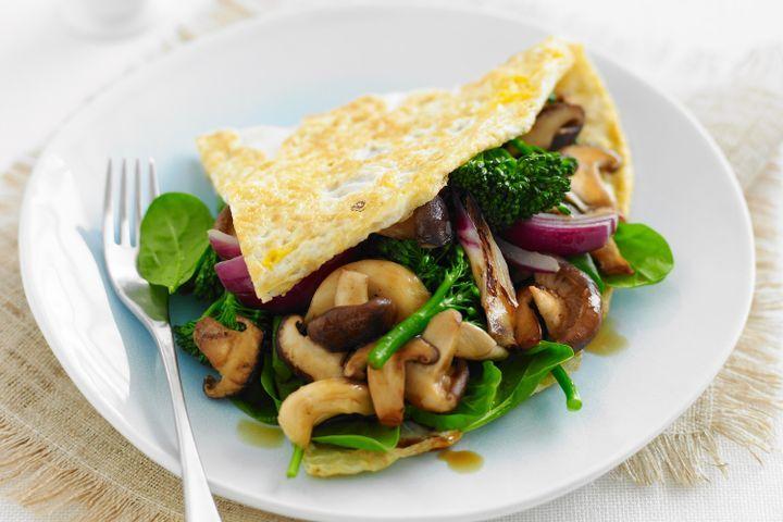 Asian vegetable omelette 1