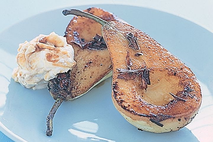 BBQ pears with brown sugar sour cream 1