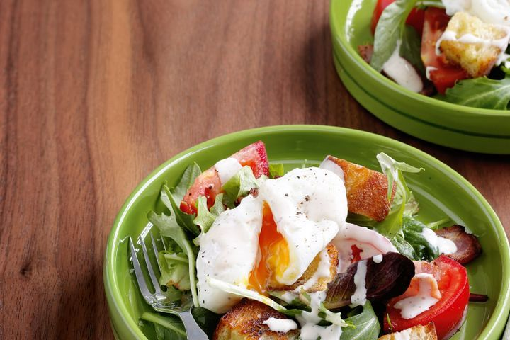 BLT salad with poached eggs 1