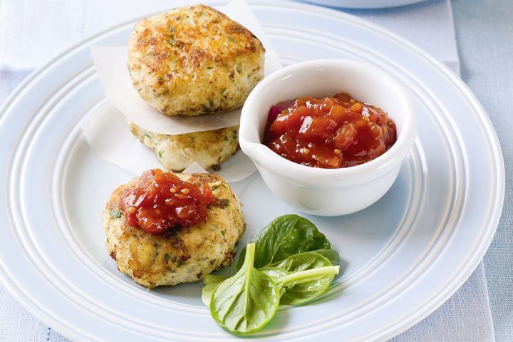 Barbecued fish patties 1