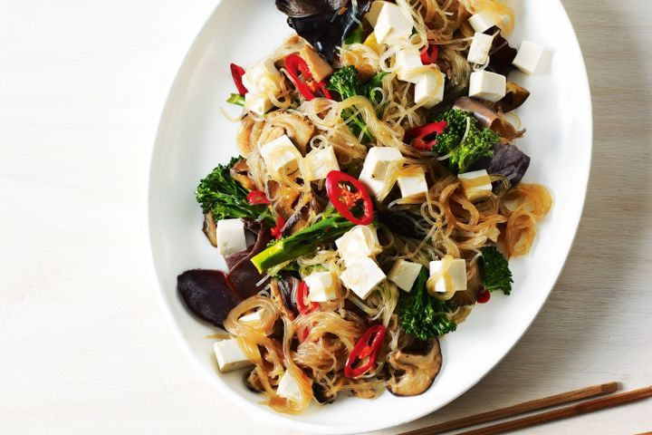Bean thread noodles with tofu and eggplant 1
