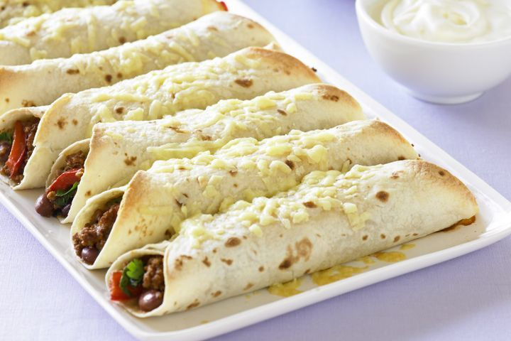 Beef and bean burritos 1