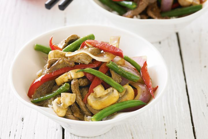 Beef and bean stir-fry 1