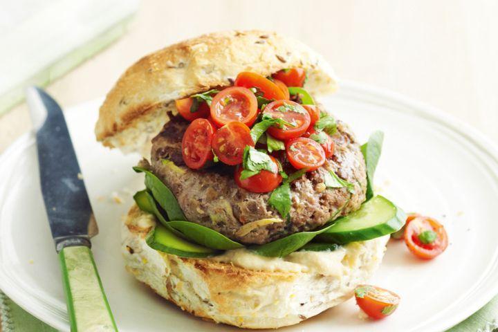 Beef and lentil burger 1