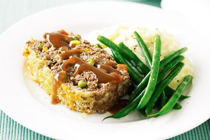 Beef and vegetable meatloaf 1