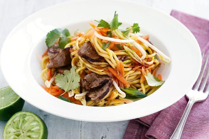Beef, hokkien noodle and sesame salad 1