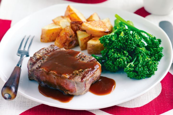 Beef with red wine sauce 1